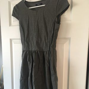 Knee length grey dress